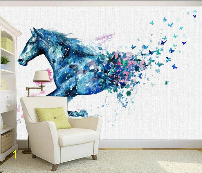 3d wallpaper custom mural non woven 3d room wallpaper Fantasy Horse butterfly painting murals photo