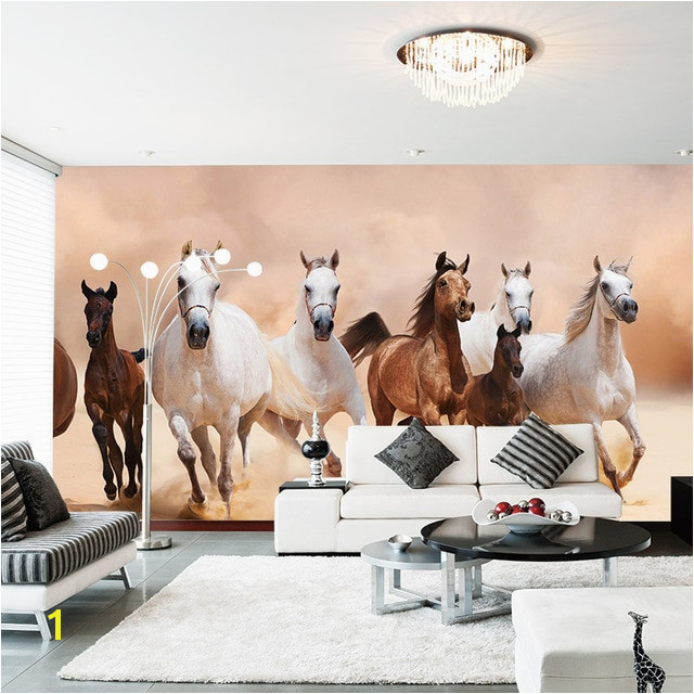 Modern 3D Horse Wallpaper Mural Home Decor Wall Papers Living Room Bedroom Wall Paper Self Adhesive Vinyl Silk Wallpaper