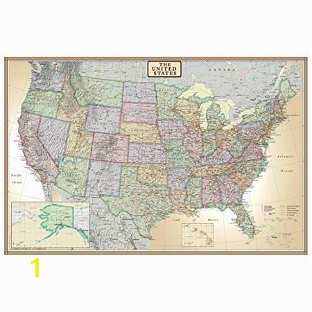 24x36 United States USA US Executive Wall Map Poster Mural Walmart