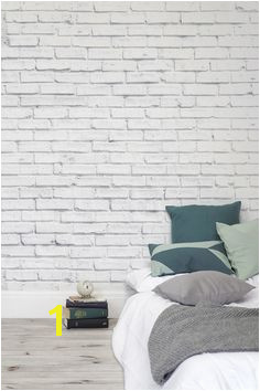 Clean White Brick Wallpaper Wall Mural