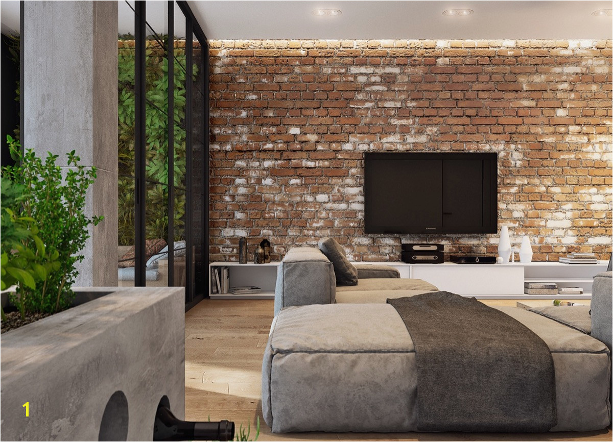 distressed look exposed brick wall panels