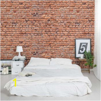 "I think I""m ging to purchase this for my guest bedroom or pantry laundry room An easy way to add interest & texture to a room Old Red Brick Wall Mural"