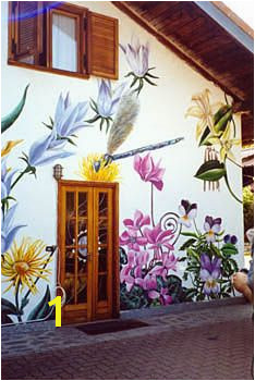 Painted outside wall Outdoor Wall Paint Outdoor Walls Hand Painted Walls Painted Shed