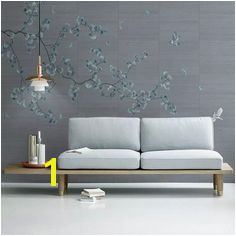 US $29 6 Ginkgo pen flowers and birds background wall professional production murals wholesale wallpaper mural poster photo wall in Fabric & Textile