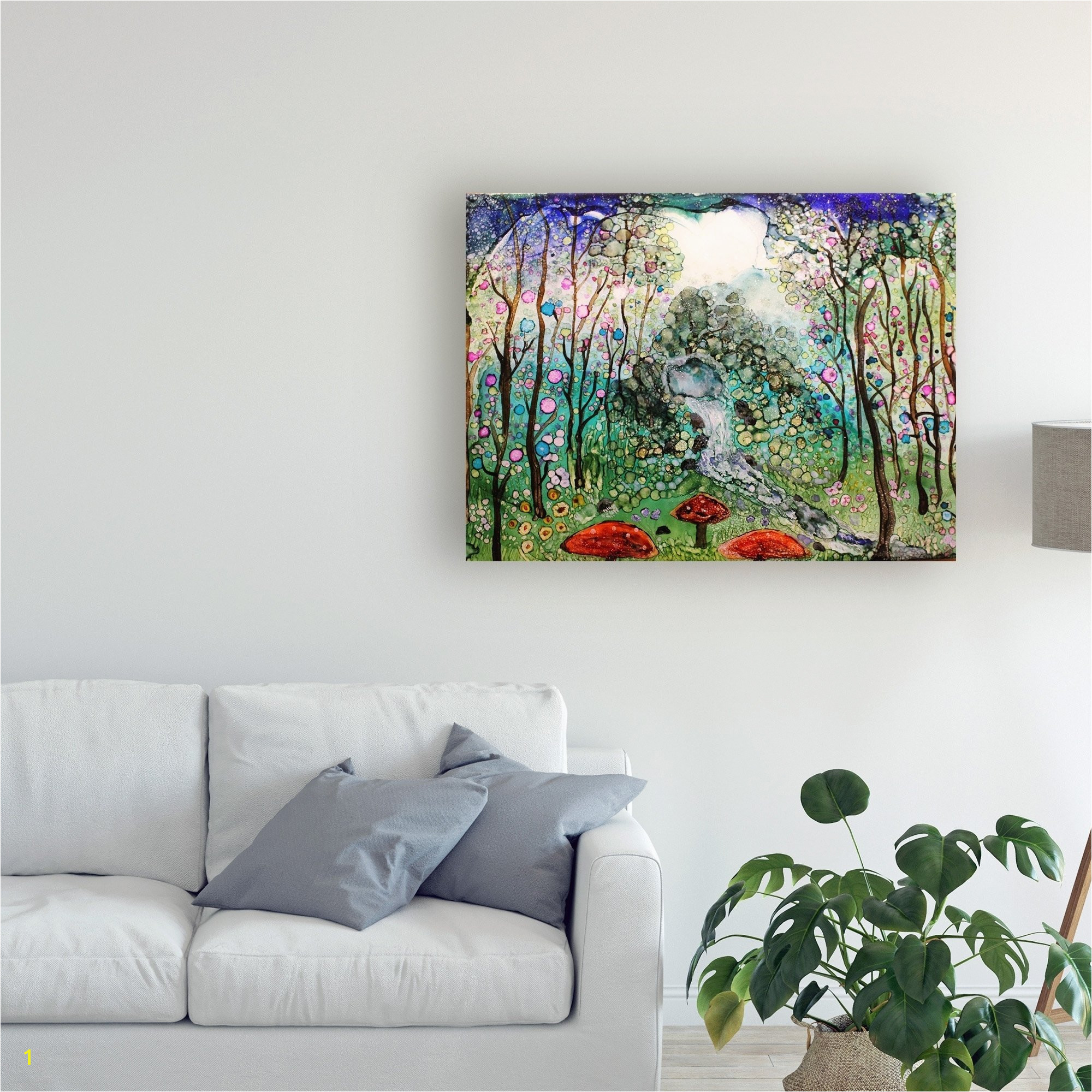 Fairy forest Wall Murals Shop Michelle Mccullough Fairy forest Canvas Art Free Shipping