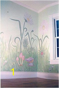 Flower Garden Nursery Wall Murals Giant flowers & grass to make you feel fairy sized