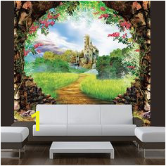 Wall STICKER MURAL castle fairy tale decole film poster by Pulaton $199 99 Fairy Tale Forest