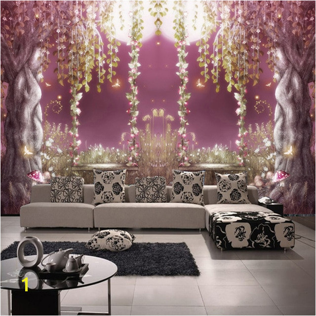 European Style Fairy Tale Forest Romantic Moonlight 3D Mural Wallpaper Living Room TV Sofa Background Wall Decor Papel De Parede