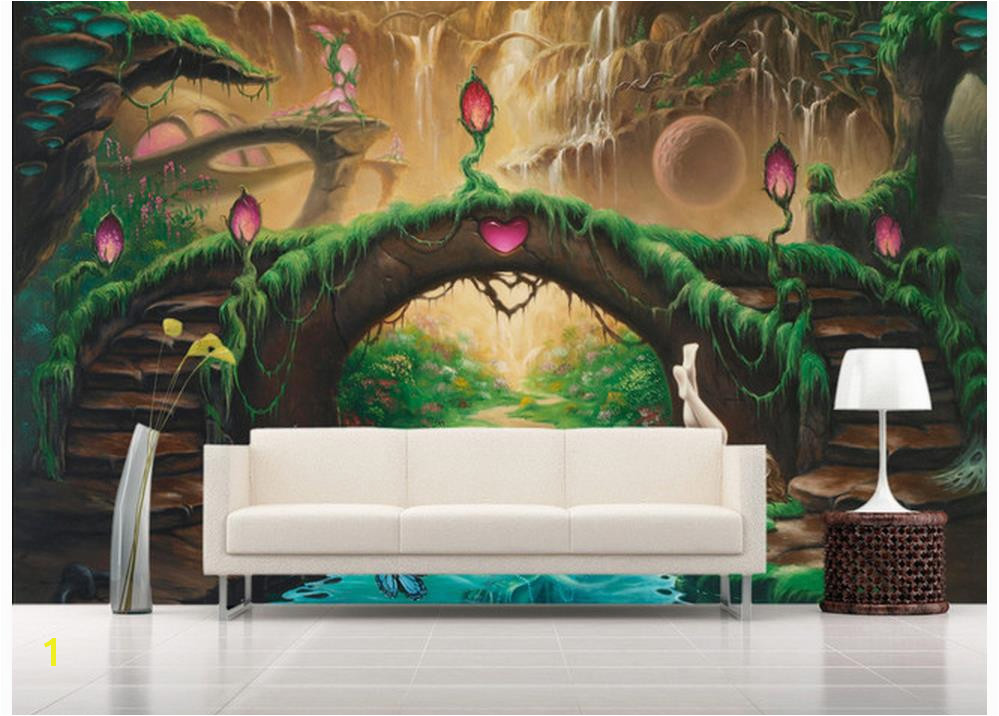 Home Decoration 3d wall murals wallpaper European fantasy fairy tale TV backdrop photo mural wallpaper in Wallpapers from Home Improvement on Aliexpress