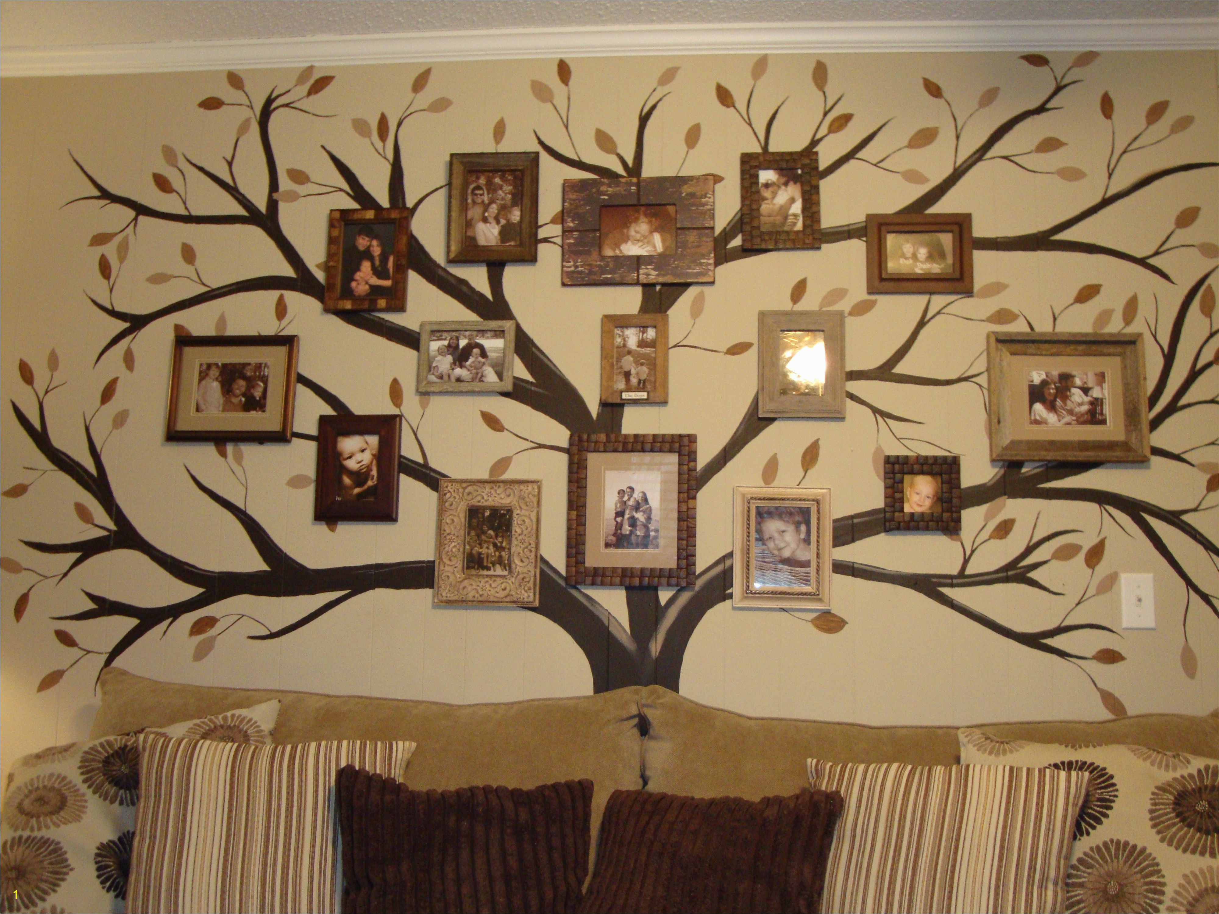Family Tree Mural Family Wall Family Room Household Items Wall Design