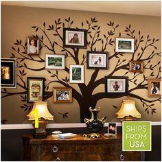 Check out these creative artsy family tree wall decals as a way to create a