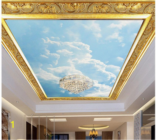 3d wall murals wallpaper Blue sky and sky dome fresco 3d ceiling murals wallpaper Home Decoration