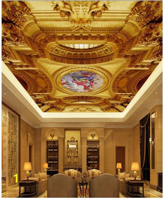 European castle figure painting the ceiling papel parede mural wallpaper ceilings 3d wall murals wallpaper