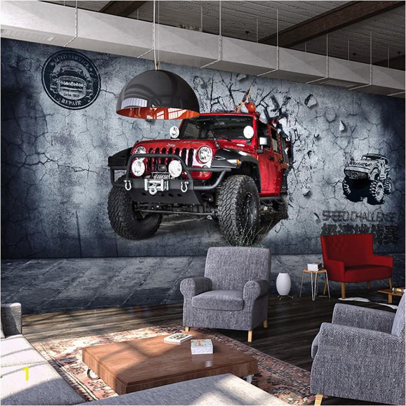 Aliexpress kup Niestandardowe 3D Mural Tapety Rocznika Motocykla Samoch³d Fast And Furious Wall Paper 3 Typ Dla Bar Salon Sofa Tło tapety od zaufanych