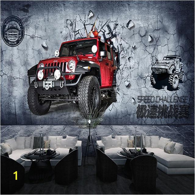 Niestandardowe 3D Mural Tapety Rocznika Motocykla Samoch³d Fast And Furious Wall Paper 3 Typ Dla Bar
