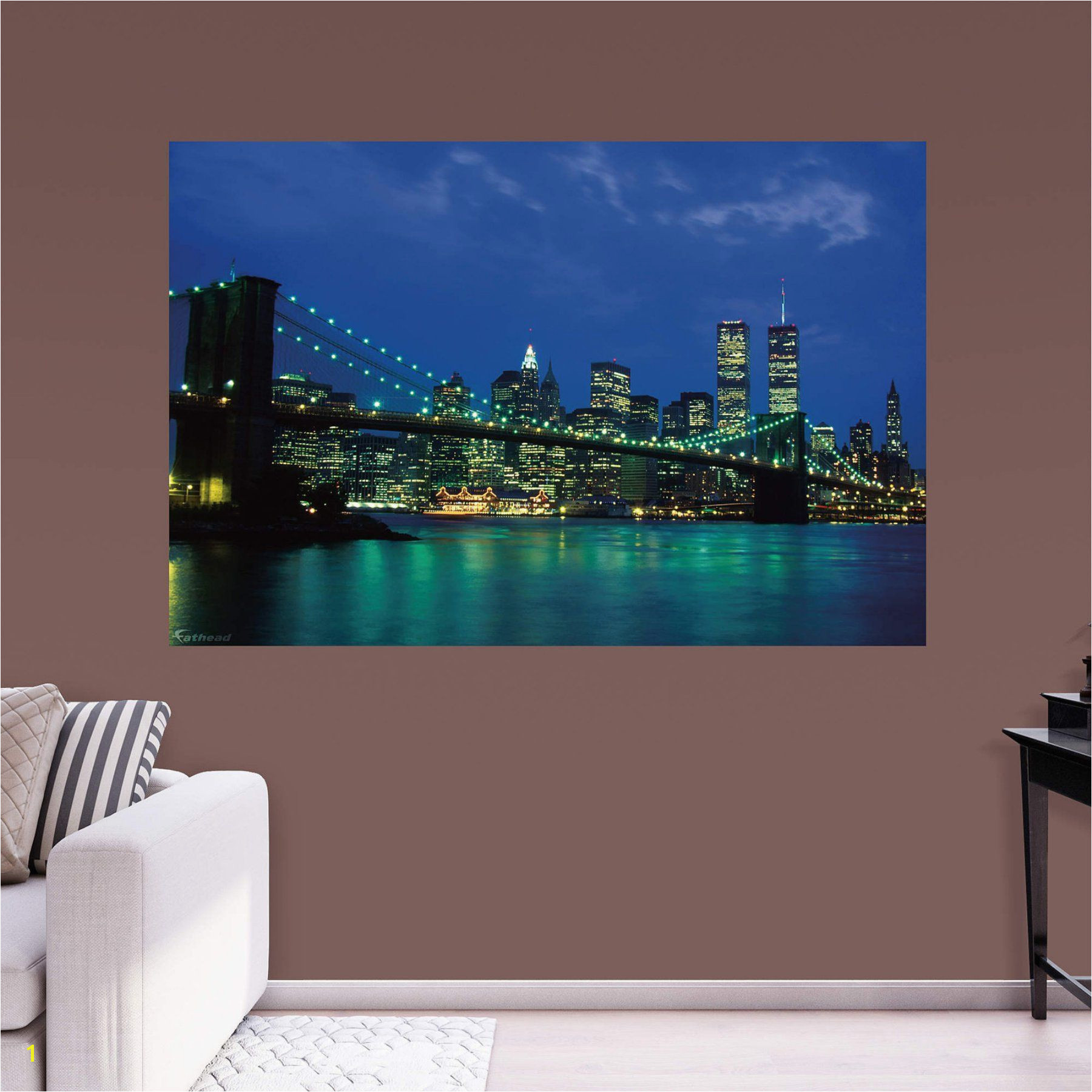 Fathead New York City Twin Towers Nightscape Wall Mural 69