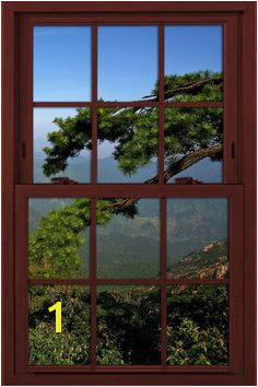 Fake window illusion poster Foothills Landscape Window Mural Window View Faux Window