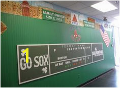 Green Monster Fenway Park Mural for Sullivan Tire Crowley Art Studio