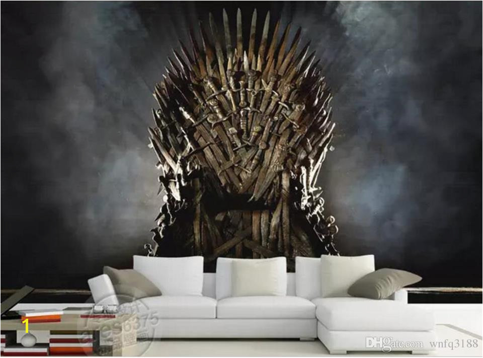 Custom Size 3d Wallpaper Living Room Mural Poster Iron Throne Song Ice And Fire Painting Background Wallpaper Non Woven Sticker Top Wallpapers