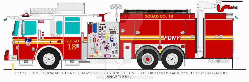 2015 Ferrara Ultra FDNY Squad 18 Vector Truck by O530Fn94XWBviantart on DeviantArt
