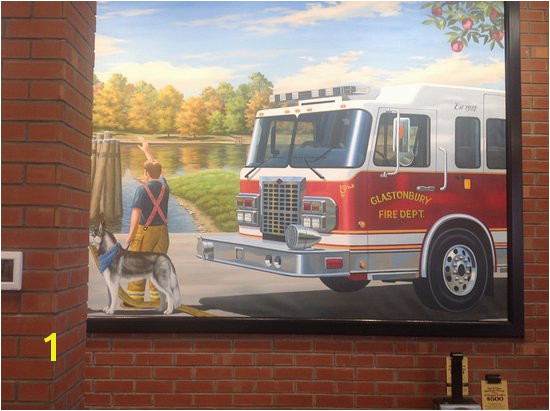 Firehouse Subs Custom mural of the Glastonbury Fire Department