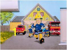Fireman Sam mural Fireman Sam Thomas The Tank Mural Painting Toy Story