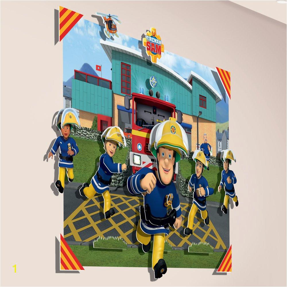 Fireman Sam 3D Pop Out Wall Decoration Paper Card Multi Colour 152 x 1 x 121 cm Amazon Kitchen & Home