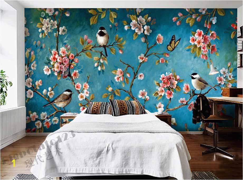 Flower Wall Murals Uk Indoor Wall Mural Wallpaper Plum Blossom Peach Apple Blossom Tree