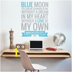 The ficial Home of Football Wall Stickers Manchester City Bedroom Football Gifts