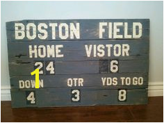 Perfect for a football themed bedroom or Man Cave Scoreboard pallet wood sign by TheCreativePallet