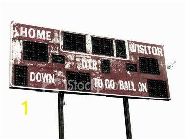 Football Scoreboard Wall Mural Vintage Football Scoreboard In 2019 Wall Decor