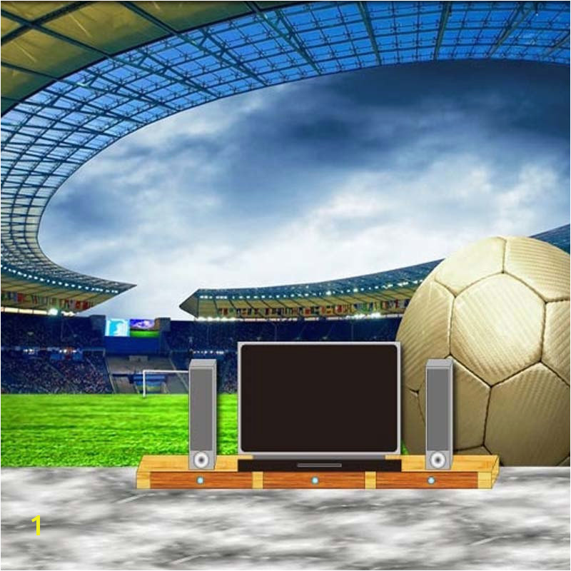 Custom 3D Soccer Wallpaper Sports Football Themed Stadium Mural Wallpaper For Living Room Bar Bedroom Wall De Parede 3D in Wallpapers from Home