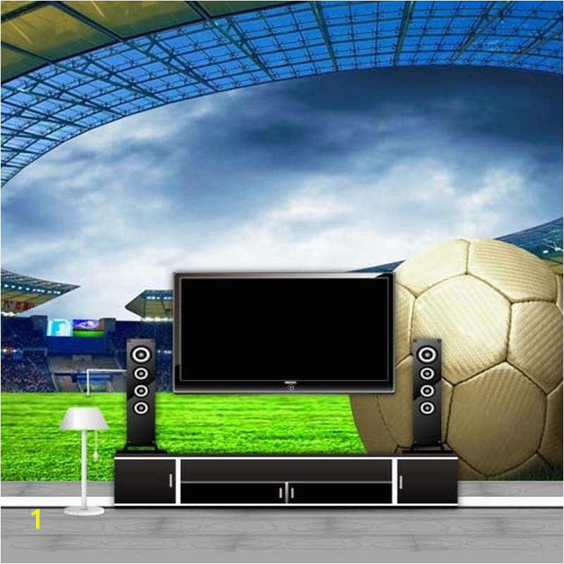 Custom 3D Soccer Wallpaper Sports Football Themed Stadium Mural Wallpaper For Living Room Bar Bedroom Wall De Parede 3D in Wallpapers from Home