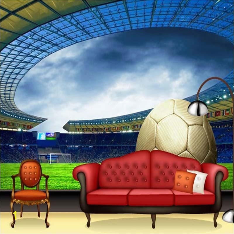 Football Stadium Murals Custom 3d soccer Wallpaper Sports Football themed Stadium