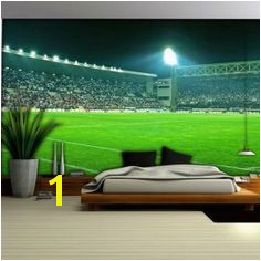 [ Football Stadium Wallpaper Mural Bedrooms Orange Wall ] Best Free Home Design Idea & Inspiration