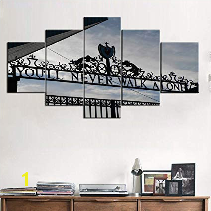 Football Stadium Wall Murals Amazon for Living Room Wall Art 5 Panel Canvas Gate Of