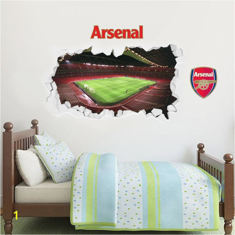 Football Stadium Wall Murals Empty Smashed Emirates Stadium Inside View Wall Stickers Football