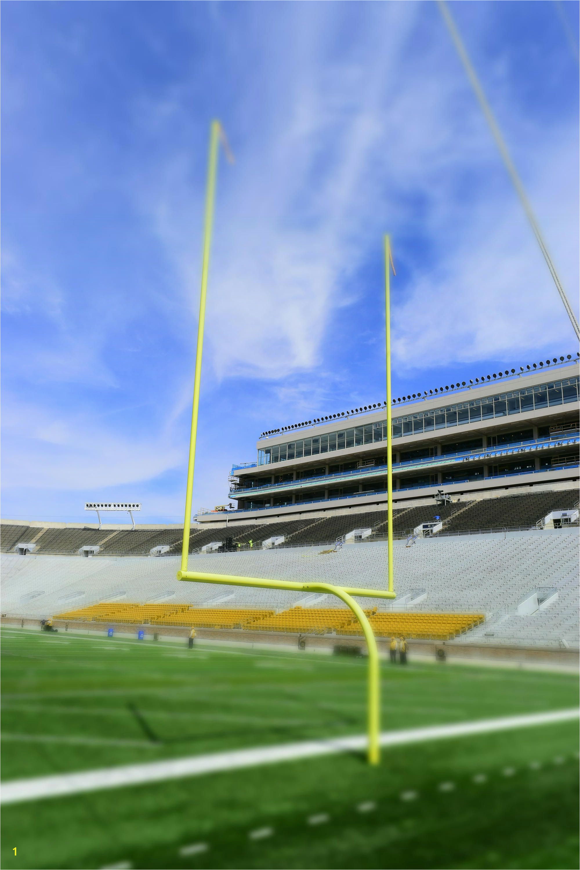 Notre Dame Stadium Notre Dame Football Vinyl Wall Decal Football Wall Decal Football Goal Posts Football graphy Infinite Graphics by