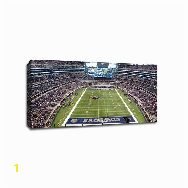 Football Stadium Wall Murals Shop Dallas Nfl 40×22 Gallery Wrapped Canvas Wall Art Free