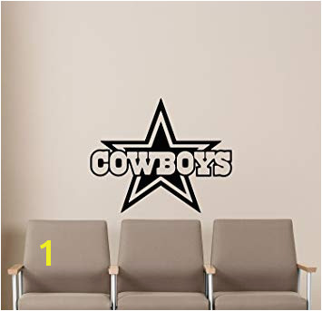 NCAA Dallas Cowboys Wall Decals Sports Football Club Emblem Kids Children Poster Stencil Decor Sports Vinyl