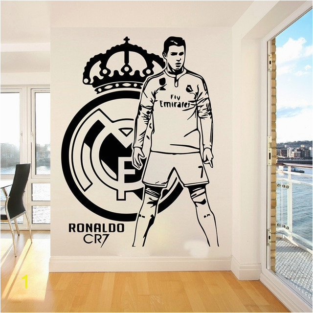 Cristiano Ronaldo Football Players Wall Sticker Kids Room Bedroom Madrid Football Player Wall Decal Living Room Vinyl Home Decor