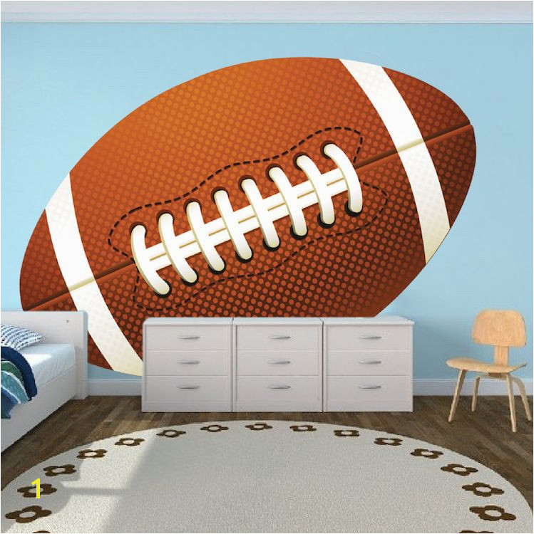 Football Wallpaper Graphic Football Wall Adhesive Boys Room Football Wall Decor Kids Sports Decals Primedecals
