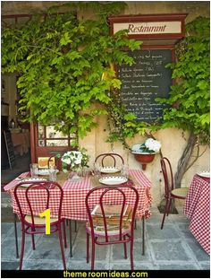 Bistro in Provence France wallpaper mural More French