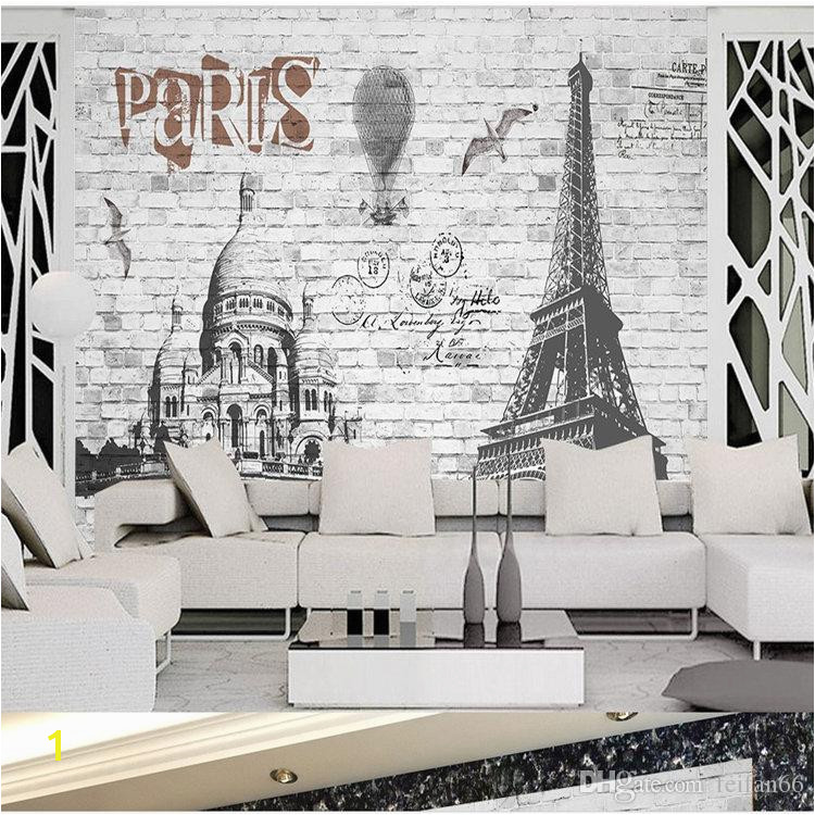 3 D European Style French Paris Street View Mural Bar Restaurant Living Room Bedroom Space Extended Wallpaper Nostalgic Backdrop Wall High Resolution
