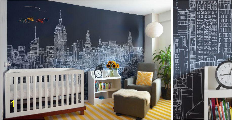 New York City Skyline Mural by Abi Daker for Donjiro Ban