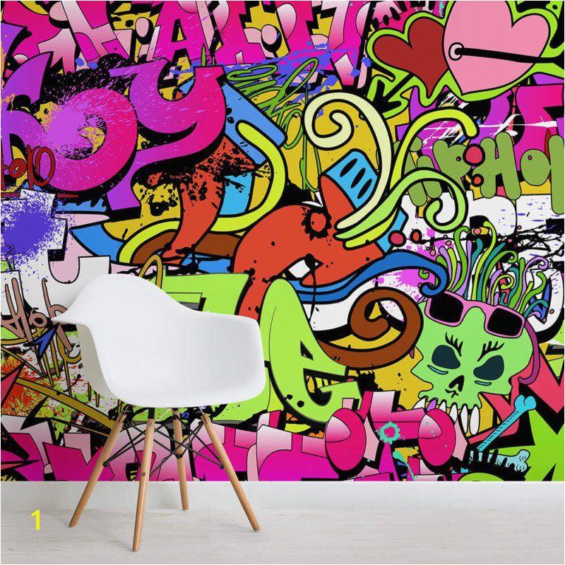 Funky Wall Murals Funky Graffiti Wallpaper Funky Wall Decor