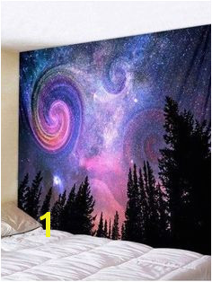 Shop for Multi W91 Inch L71 Inch Wall Hanging Art Galaxy Forest Print Tapestry online at $18 67 and discover fashion at RoseGal Mobile