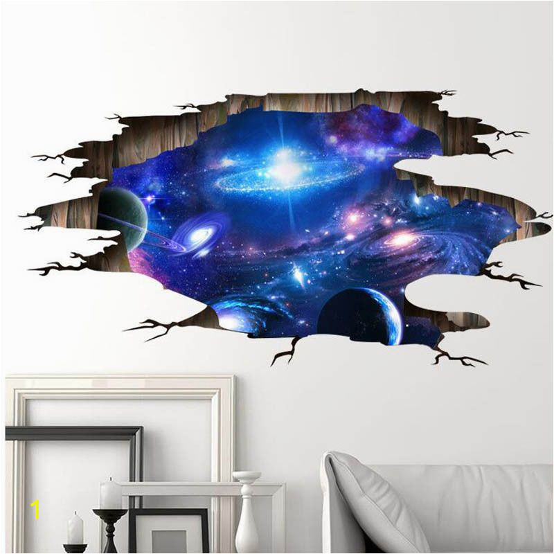 Wall Stickers Cosmic Galaxy Wall Decals for Kids Room Baby Bedroom Ceiling Decor Unbranded Creative