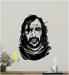 The Hound Wall Decal Sandor Clegane Game Thrones Vinyl Sticker Fantasy Movie Wall Art Design Housewares Kids Room Bedroom Decor Removable Wall Mural