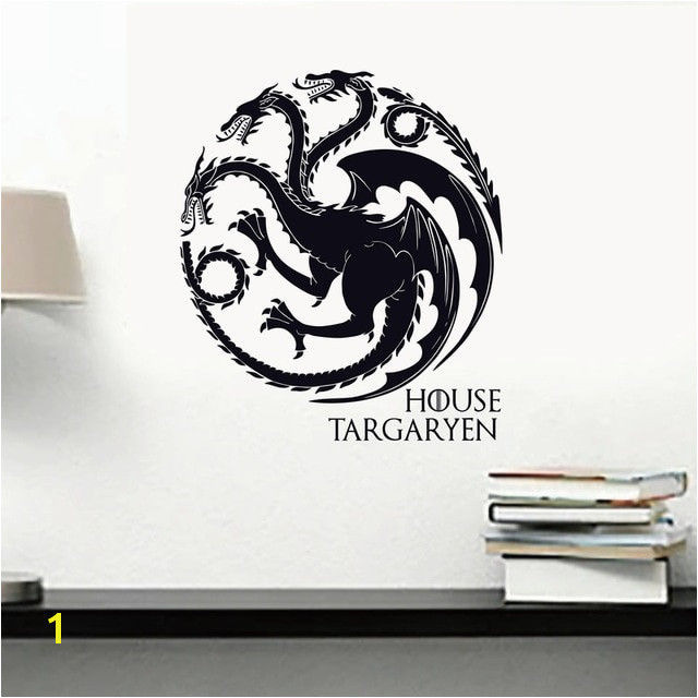 Game of Thrones House Targaryen Wall Decal Vinyl Art GOT Sigils Dragons Symbol Wall Sticker for Walls Cars Laptops
